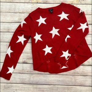 Rue21 distressed sweater.